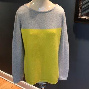 Banana Republic gray/yellow wool cashmere sweater